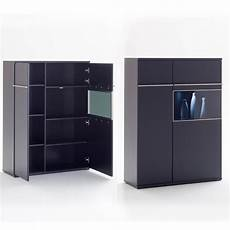 highboard schwarz highboard links black schwarz matt lackiert glas mit