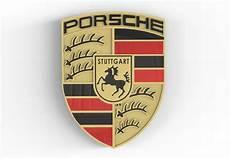 porsche logo 3d cad model library grabcad