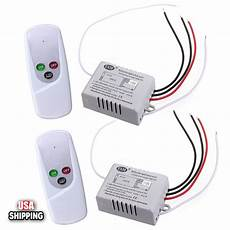 2x wireless 1 way on off switch digital wall light remote control receiver 110v ebay