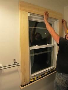 Drywall Bathroom Window by Installing The Window Trim Diy Home Decor House Trim