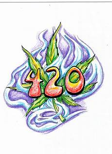 Drawn Weed Graphic Pencil And In Color Drawn Weed Graphic