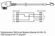 Le Anschließen 2 Kabel Ohne Farbe - tae anschlusskabel tae n auf rj11 6 4 4adrig