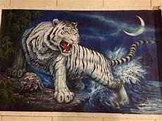 Gambar Lukisan Harimau Putih Cikimm
