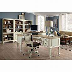 white home office furniture complete curved l desk set national business furniture