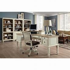white home office furniture complete curved l desk set national business furniture