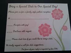 Potluck Wedding Invitation