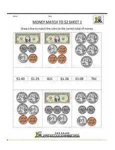 learn money worksheets 2227 money match to 2 sheet 1 money worksheets money 2nd grade math