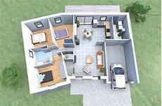 plan maison moderne 3d plan 3d d une maison en v de plain pied avec 3 chambres