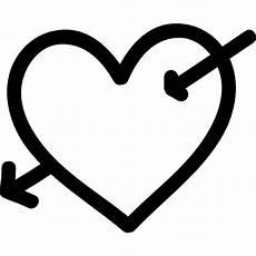 Malvorlagen Herz Mit Pfeil Herz Mit Pfeil Symbol Gezeichnet Der