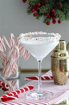 white chocolate peppermint martini holiday cocktail recipe