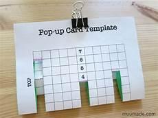 pop up card template for an easy pop up card template muumade