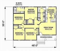 4 bedroom craftsman house plans 1541 square feet 4 bedrooms 2 batrooms on 1 levels