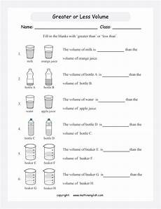 measurement capacity worksheets grade 2 1716 printable primary math worksheet for math grades 1 to 6 based on the singapore math curriculum