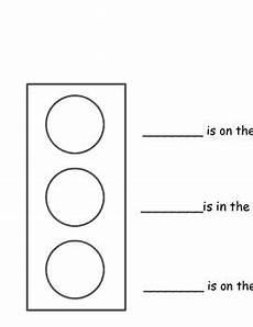 transportation safety worksheets 15235 positional words traffic light top middle bottom traffic light literacy worksheets