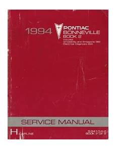 auto repair manual online 1994 pontiac bonneville electronic toll collection 1994 pontiac bonneville factory service manual 2 volume set