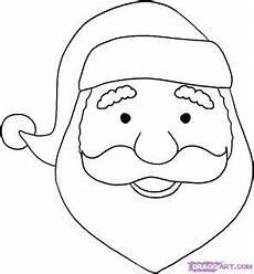 Ausmalbilder Weihnachtsmann Gesicht Easy To Draw Santa Claus Weihnachten Zeichnung