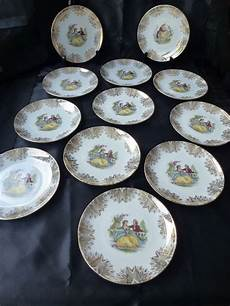 13 porcelain pastry set by winterling bavaria