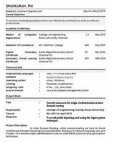 resume format pdf for freshers latest professional resume formats in word format for free
