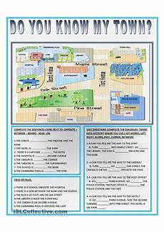 places in town writing worksheets 16040 do you my town direcciones en ingles