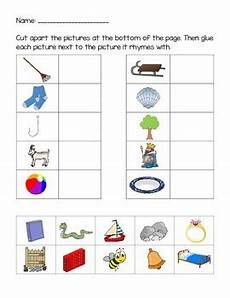 rhyming words matching worksheets by playful learning tpt