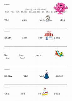 sentence worksheets reception mr sentence structure teaching resources