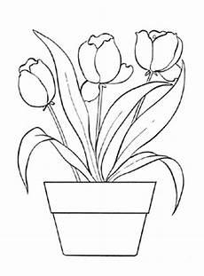 ausmalbilder tulpen 1 tulpen malvorlagen