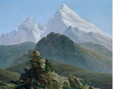 Romantik Caspar David Friedrich - kunst tapete der watzmann caspar david friedrich tapeterie