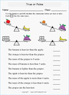 mass measurement worksheets grade 1 1750 mass and weight measurement math worksheets for primary students