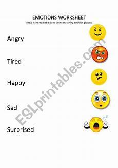 emotions match up esl worksheet by bombshell83