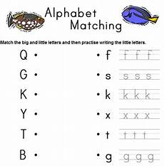 matching big and small letters worksheets alphabet big and small letter matching