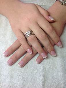 french acrylic overlay french tip acrylic nails natural