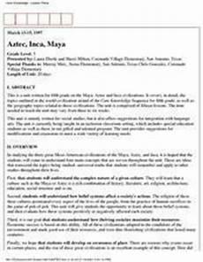 aztec inca 5th grade lesson plan lesson planet