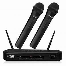 cordless microphone system pyle pdwm2130 wireless fm microphone receiver system with dual frequency and ebay