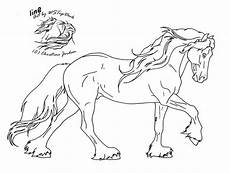 Ausmalbilder Pferde Friesen Friesian Lineart For Da Use By Wstopdeck On Deviantart