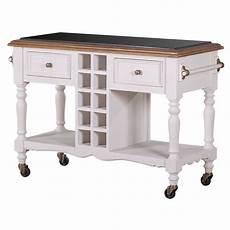 hton kitchen island trolley w wine rack white buy kitchen islands trolleys 178962