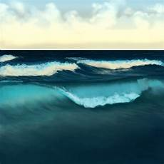how to paint water waves and the in adobe photoshop
