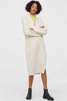 strickkleid mit schlitz in 2020 strickkleid kleid mit
