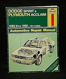 plymouth acclaim 1989 1995 repair service manual download manuals haynes dodge spirit plymouth acclaim models automotive repair manual 1989 1992 ebay