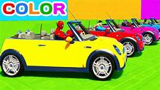 how can i learn about cars 2009 mini cooper seat position control fun learn color mini cooper cars w superheroes for toddlers 3d animation for kids youtube