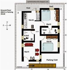 30x40 site house plans my little indian villa 41 r34 2bhk in 30x40 north