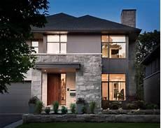 haus mit steinfassade fassadengestaltung modern stein haus deko ideen