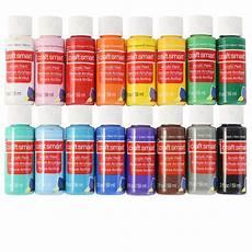 craft smart acrylic paint value 16 colors matte mate solutions