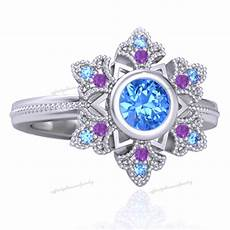 multi color disney princess engagement wedding ring in