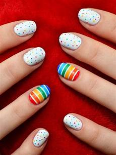 extremely cool polka dot nails designs 2017 styles