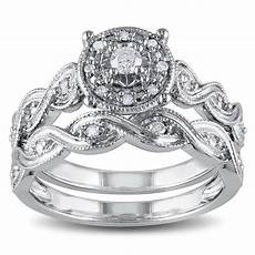 miadora sterling silver 1 5ct tdw diamond infinity filigree vintage halo bridal ebay