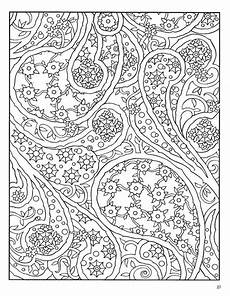 dover paisley designs coloring book color pages pinterest