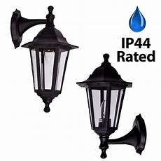 traditional black ip44 outdoor garden patio wall security light lantern l ebay
