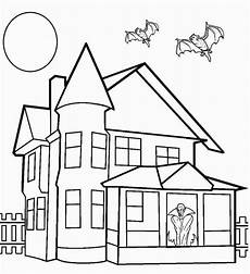 25 free printable haunted house coloring pages for
