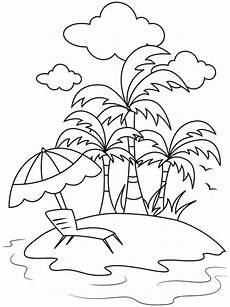 Ausmalbild Urlaub Gratis Kostenlose Malvorlage Sommer Sommerurlaub Auf Der