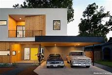 Modernes Carport Modern Haus Fassade With Front Yard By